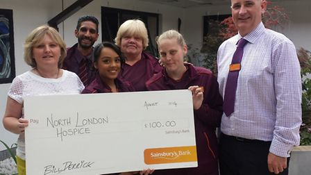 Left to right: Corporate fundraiser manager Jennifer Sheehy, store colleagues Prima Gorecha, Prithi Begum, Stella...