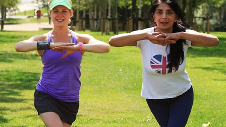 Kathryn Tilbury took me through a range of stretches before getting started on the high intensity excercises as part of a...