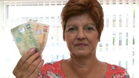 Margaret Spenceley, 62, got 4 numbers in the lottery on Wednesday night. She won £15. Those that got 3 numbers won £25.