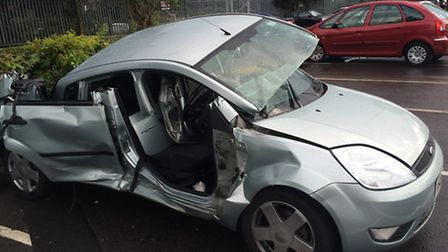 The Ford Fiesta involved in the crash.