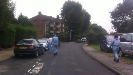 Officers and forensics are spending their second day at Wolverton House in Chudleigh Road, Harold Hill after explosives...
