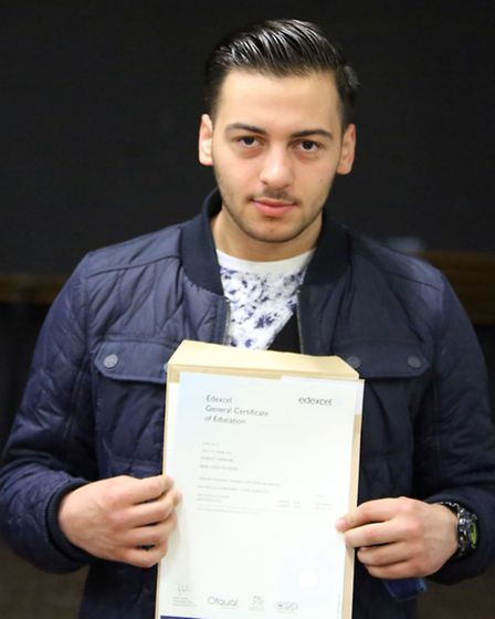 Student Xhavit Hoxhaj, 18, got all Bs in his A-level results at Beal High School and is the first in his family to go to...