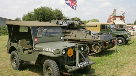 Military vehicles went on show on Saturday at Daymns Hall Aerodrome as part of Havering's First World War commemorations...