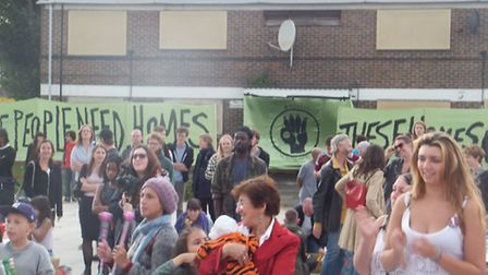 Protesters occupying empty council housing at Stratford's Carpenters Estate
