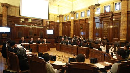 Youngsters take part in the Youth Debate at Redbridge Town Hall, High Road, Ilford.