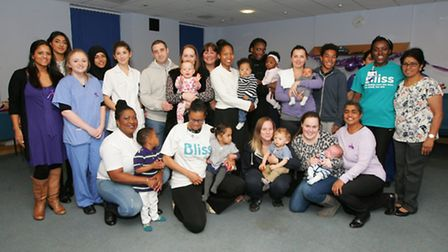Newham University Hospital staff with premature children and their families