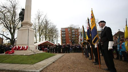 Remembrance Sunday service at Ilford War Memorial in Newbury Park. [Picture: Ellie Hoskins]
