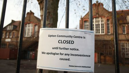 The Upton Community Centre in Claude Road is closed until further notice