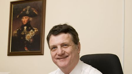 UKIP's Gerard Batten in his new Romford office (photo: Arnaud Stephenson)