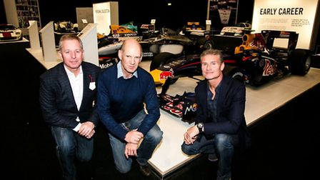 Martin Brundle, Adrian Newey and David Coulthard at the London Classic Car Show (picture: LCCS)