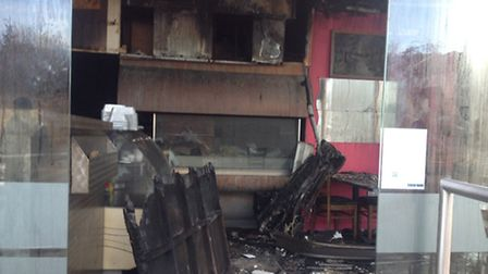 The damage to Woodford BBQ after a fire broke out in the early hours
