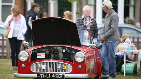 The classic car show at the Wanstead festival, a community attraction at Christchurch Green.