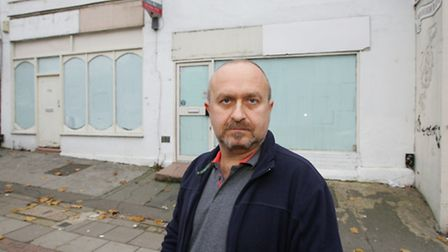 Cllr Robin Turbefield outside the Snakes Lane East site in Woodford Green