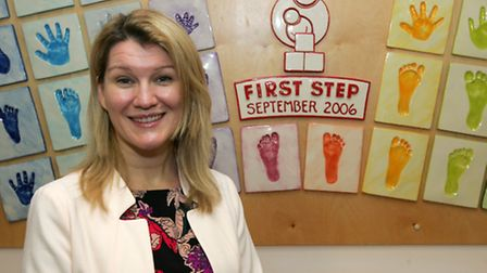 Fundraising manager Michelle Mitchell in First Step's centre