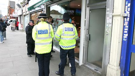Ilford Lane action day - enforcement officers from all different departments such as street cleaning, planning, trading...