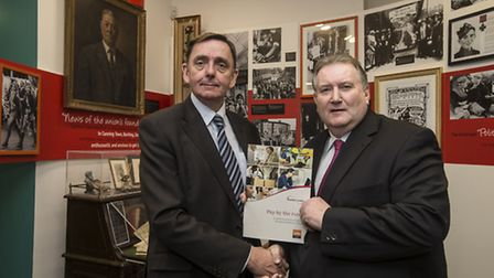Sir Robin Wales with Paul Kenny