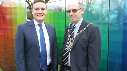 The Mayor of Redbridge Cllr Ashley Kissin and Cllr Wes Streeting.