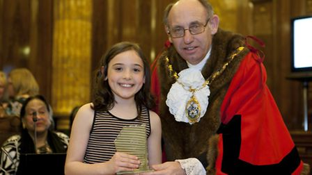 Winner of the Recorder/Redbridge Rotary Young Citizen Award, Isabella Field
