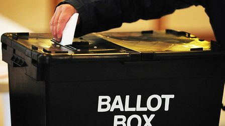 Polls are open until 10pm. Picture: PA.