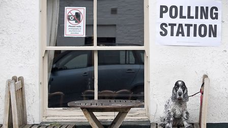 A polling station on election day (JUSTIN TALLIS/AFP via Getty Images).