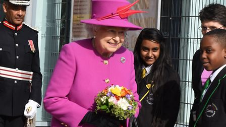 The Queen visiting Lister Community School