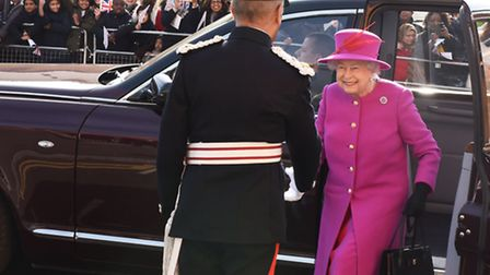 Her Majesty arrived to cheers from the crowd