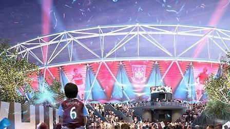 Artist's impression of how the Olympic Stadium could look next season