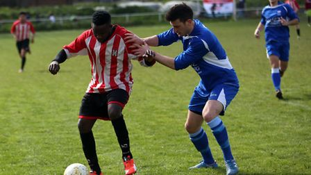Action from Clapton's clash with Stansted (pic: Ellie Hoskins)