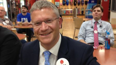 Romford MP Andrew Rosindell at the count