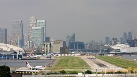 London City Airport with Connaught Bridge (right) (Picture: Gareth Fuller/PA images)