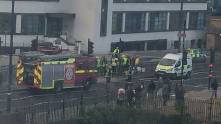 The emergency services rushed to the scene. PICTURE: Waheed Productions