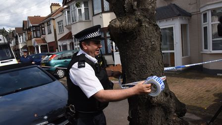 Police searching a house on Fairfield Road in Ilford in the wake of the London terror attacks. Picture: Ken Mears