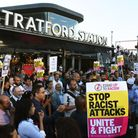The vigil at Stratford Station for cousins Jameel Muhktar and Resham Khan who were attacked with acid while sitting in their ...