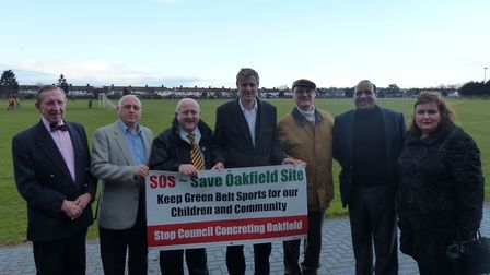 Save Oakfields campaigners. Picture: Keith Prince