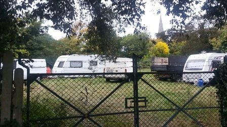 Travellers in Evergreen Field, just off the High Street, in Wanstead. Picture: Ken Mears