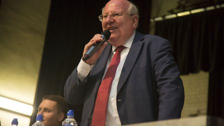 Mike Gapes, Ilford South MP, addresses the rally. Picture: Ellie Hoskins