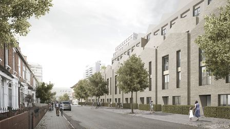 Mock-up images of the proposed Sainsbury's development in Roden Street, Ilford. Picture: Sainsbury's