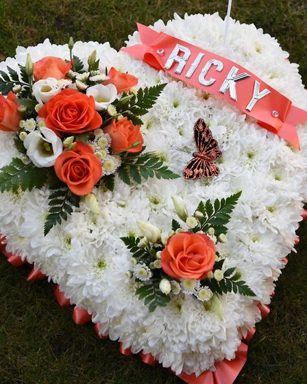 Hundreds of mourners turned out for the funeral of Ricky Hayden. Picture: Ken Mears