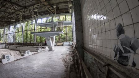 File images of Pripyat, near the Chernobyl nuclear plant taked on August 23, 2019. Pripyat, Ukraine.
