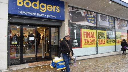 Bodgers in Ilford is closing down and shoppers are flooding in to get the last of the bargains