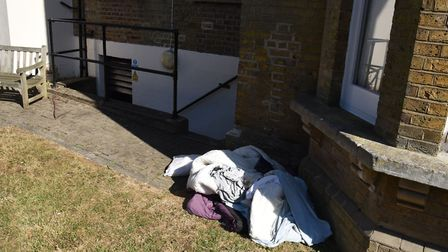 Bedding and clothes were found outside of the gas cupboard at Harold Wood Hall in Harold Hill.