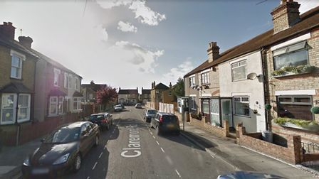 Firefighters were called to reports of a possible acid attack in Claremont Road, Hornchurch. Photo: Google