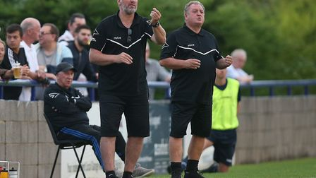 Hornchurch manager Jim McFarlane during Wingate & Finchley match (Pic: Gavin Ellis/TGS Photo)