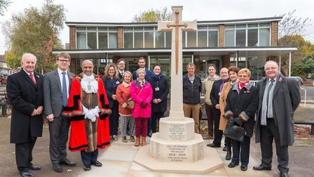 The Mayor of Havering and other councillors and members of the public gathered to unveil the new World War One war...