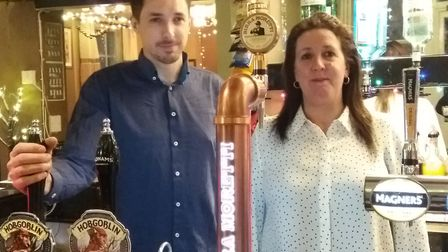 Alison James and her son Steven at the Inkerman in Ipswich Picture: ADMIRAL TAVERNS