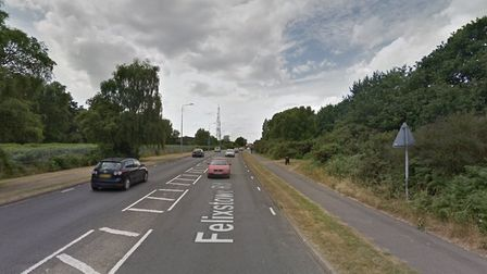 A cyclist has been taken to hospital following a crash on Felixstowe Road Picture: GOOGLE MAPS