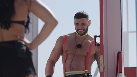 Kieran trying to win over Alex as a fireman Picture: ITV