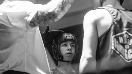Fighters are coached in sessions by a range of experience boxing coaches. Picture: RAINYWOOD PHOTOGRAPHY