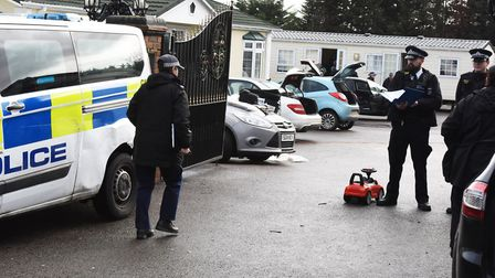 Fair Hill Rise in Harold Hill which was raided by police resulting in numerous arrests.