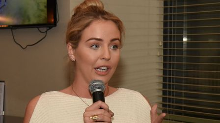 Towie actress Lydia Bright. Photo: Ken Mears